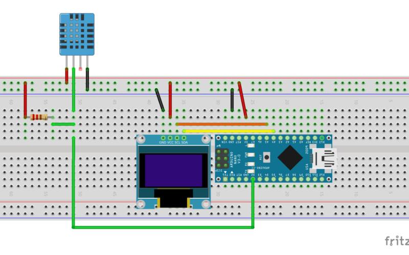 Arduino nano dh11 oled