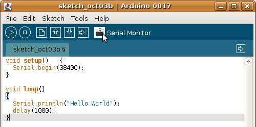 Arduino ส่งข้อความออกทาง Serial Port