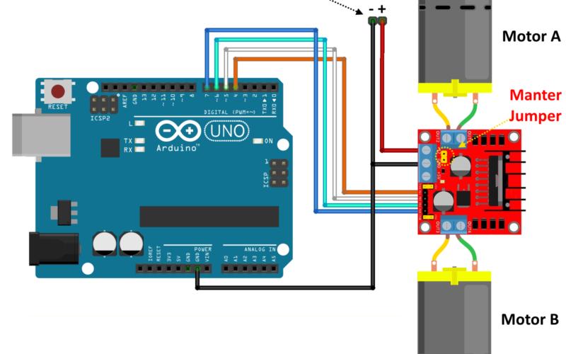 Arduino ควบคุมMotor ผ่าน L298